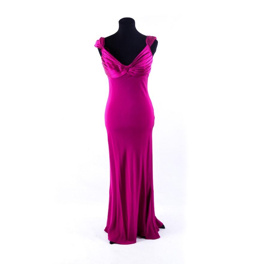 Pilar Rossi Magenta Evening Gown, Size 8 : EBTH