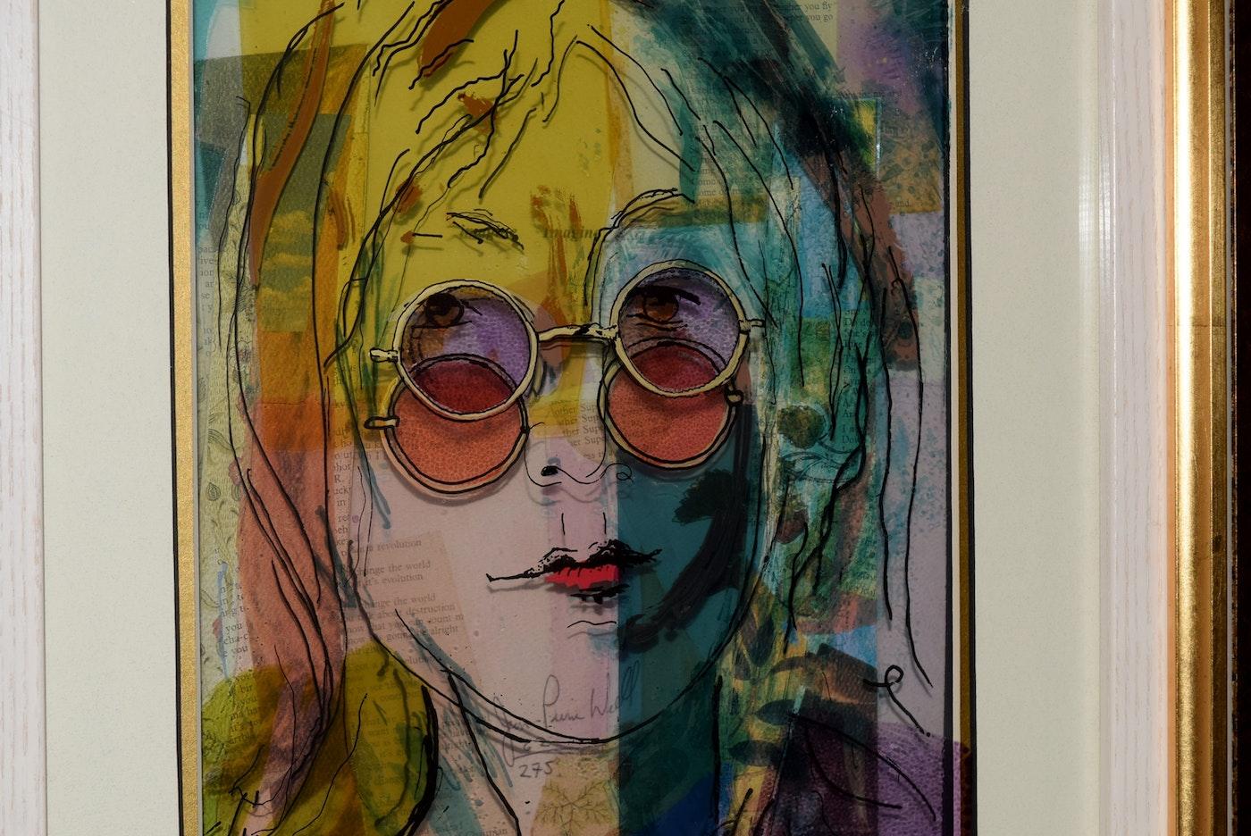 Art Glass Layers Painting Vitreograph