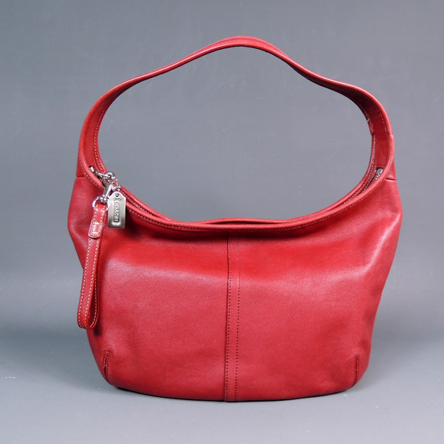 536cc56b280 Coach Ergo Small Zip Hobo Bag in Red Leather   EBTH