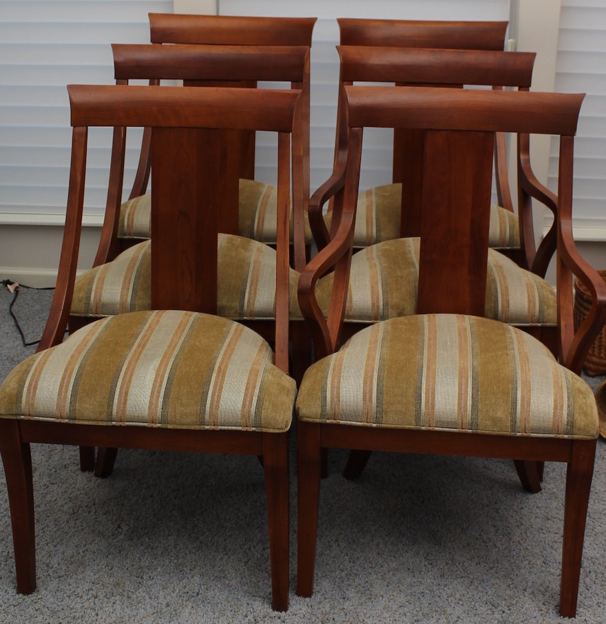 Modern Ethan Allen Quot Medallion Quot Dining Chair Set Ebth