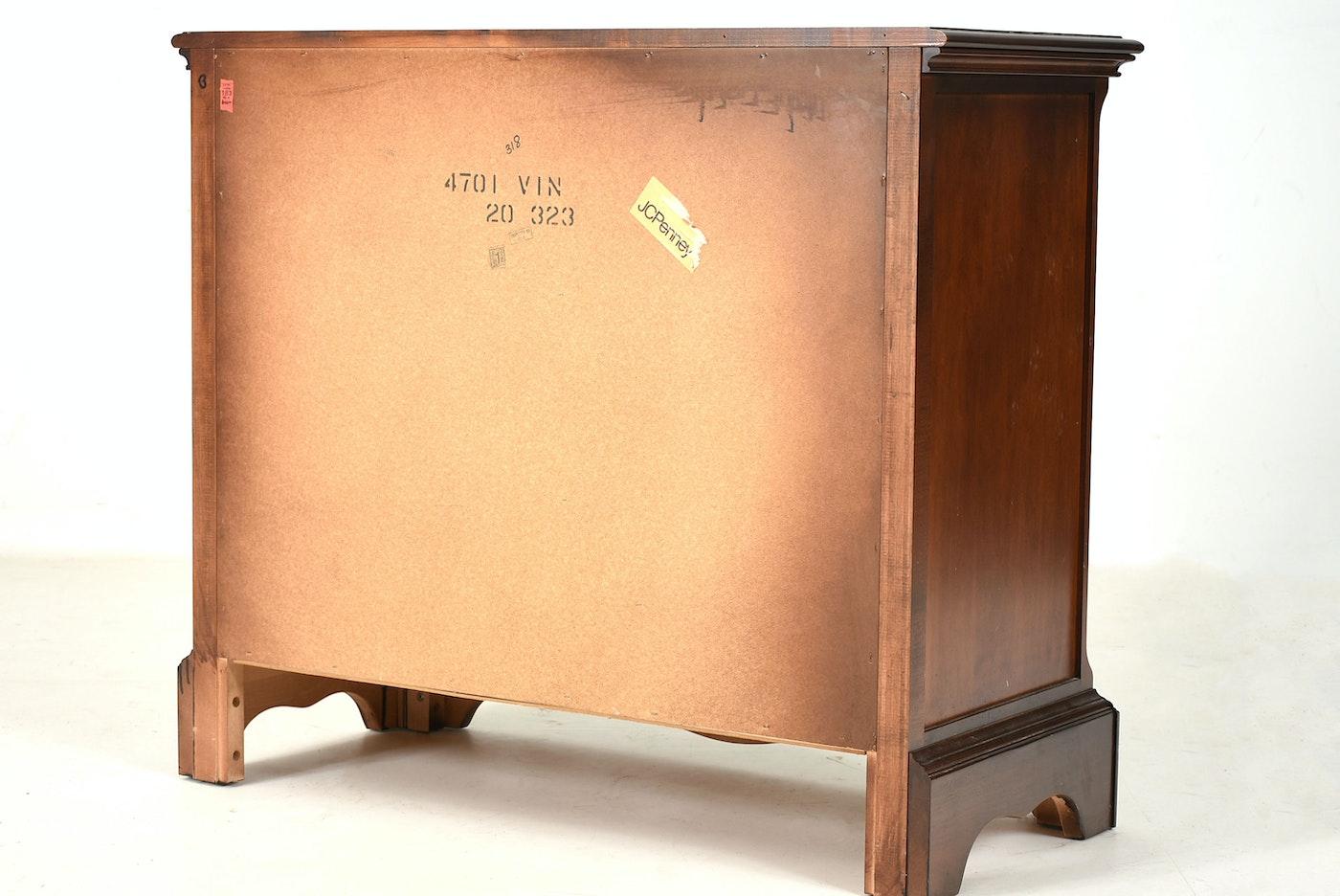 Mahogany Finish Three Drawer Dresser For Little Folks Furniture Ebth