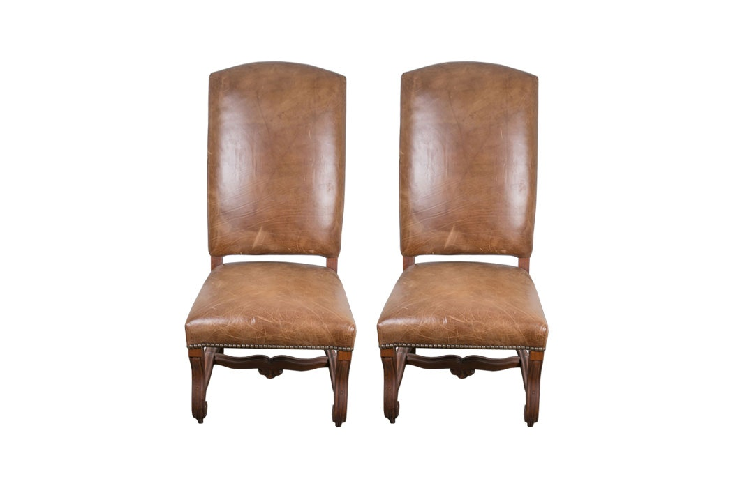 Ralph Lauren Leather Dining Chairs ...