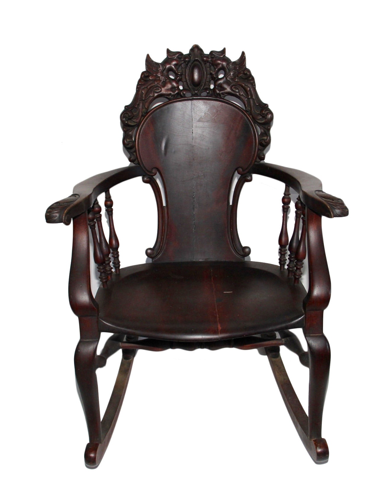 Medieval Style Wood Rocking Chair ...  sc 1 st  Everything But The House : medieval chair - lorbestier.org