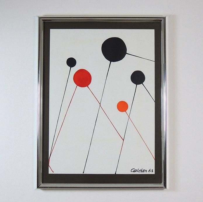 Framed Alexander Calder Hand Pulled Lithograph Titled
