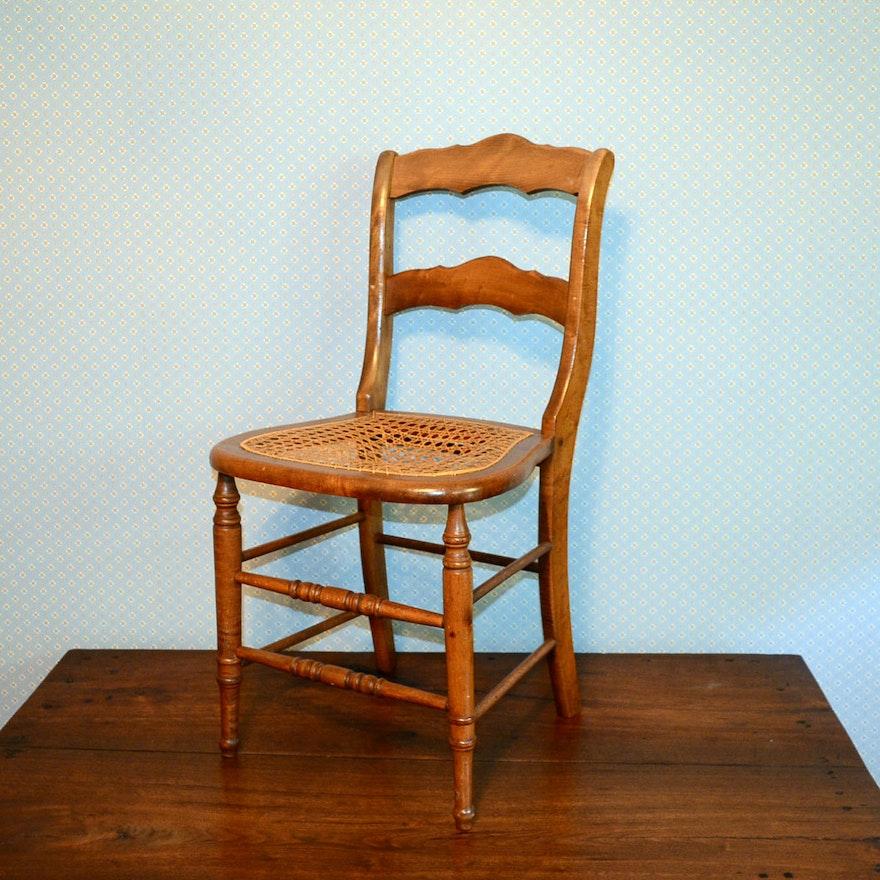 Antique Cane Bottom Chair ... - Antique Cane Bottom Chair : EBTH