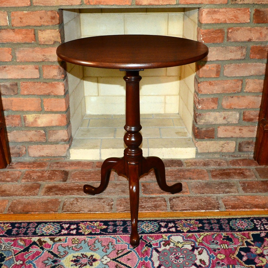 Williamsburg Kit Furniture Queen Anne Style Mahogany Tea Table
