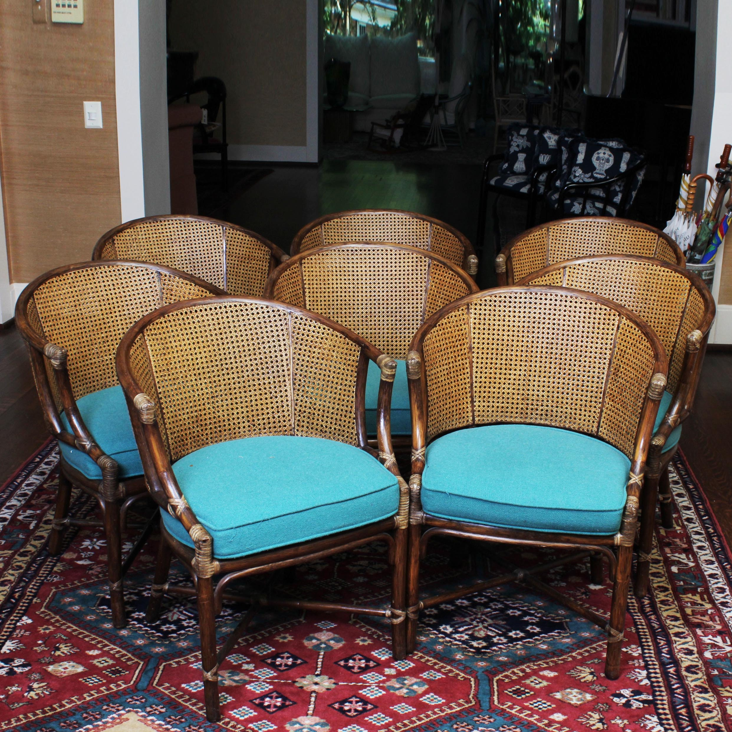 Vintage McGuire Of San Francisco Bamboo And Cane Back Chairs ...