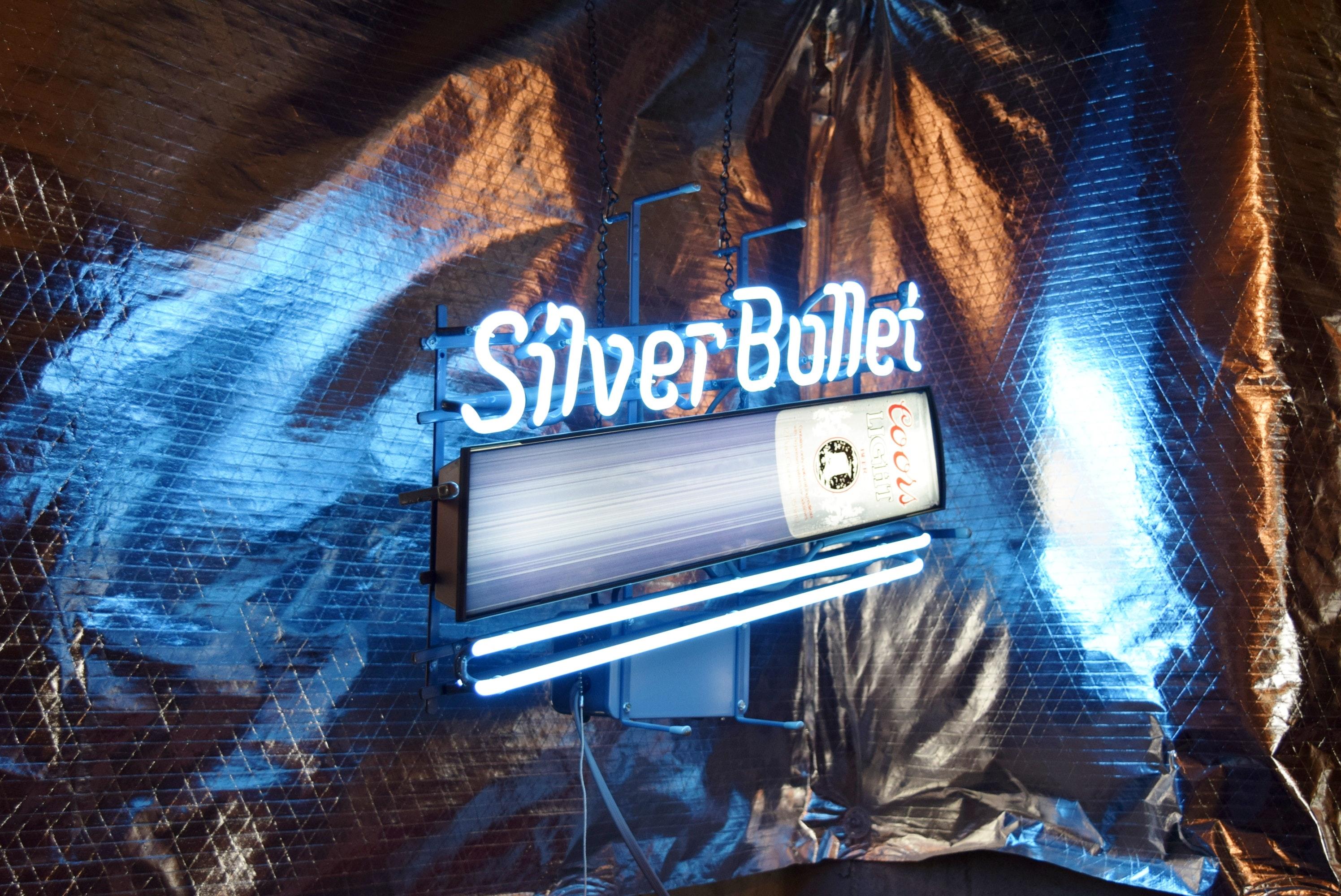 Silver Bullet Coors Light Neon Sign Ebth