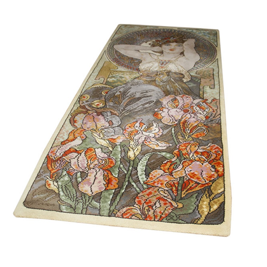 a333c73c5d8 Area Rug After Alphonse Mucha s