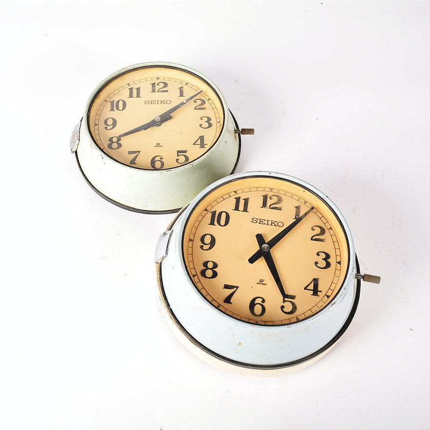Vintage Seiko Tanker Ship Slave Wall Clocks Ebth