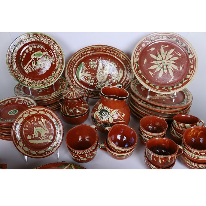 Assorted Set of Mexican Pottery Tableware ...  sc 1 st  EBTH.com & Assorted Set of Mexican Pottery Tableware : EBTH