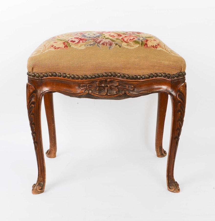 Vintage Victorian Style Wooden Bench Ebth