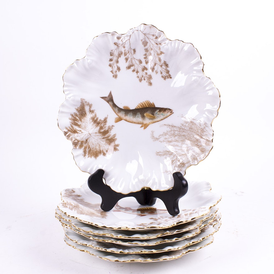 Collection Limoges Fish Themed Plates : EBTH