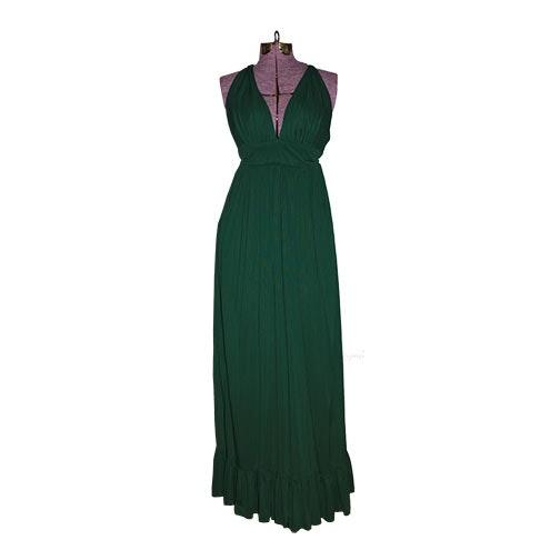 Vintage Green Halter Dress