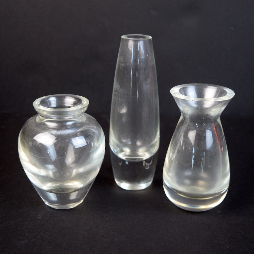 Williams Sonoma Polish Glass Bud Vases Ebth