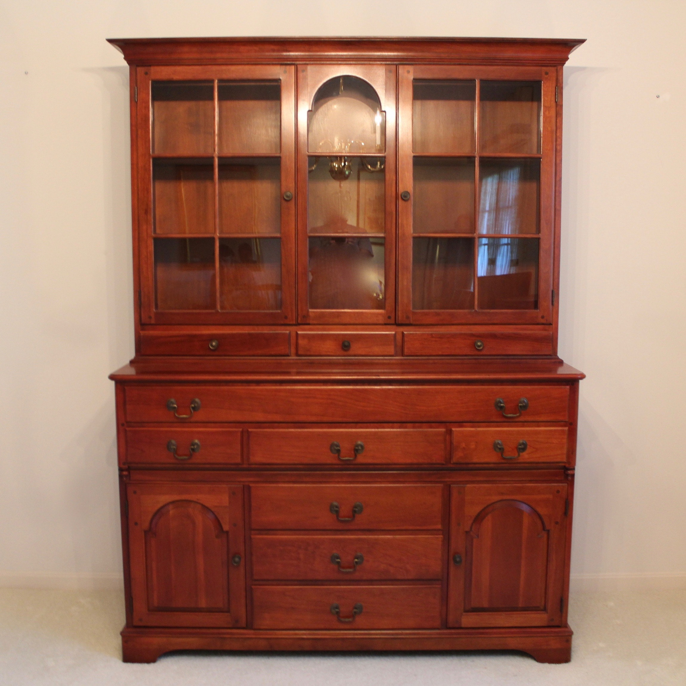 Vintage Pennsylvania House Cherry China Cabinet ...