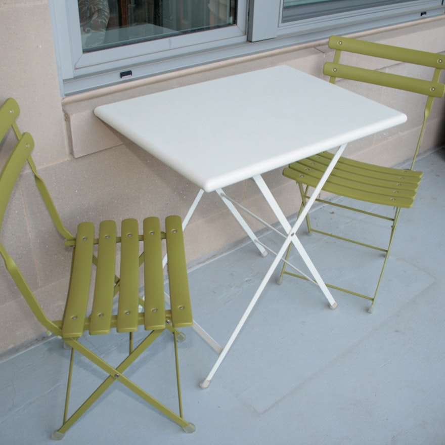 Bistro Table And Pair Of Moss Green