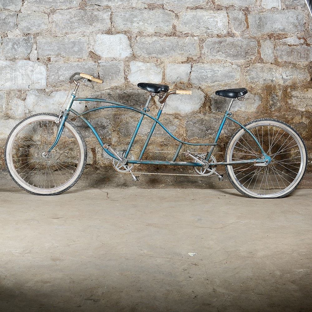 "White Wall Tires For Sale >> Vintage ""Western Flyer"" Tandem Bicycle : EBTH"