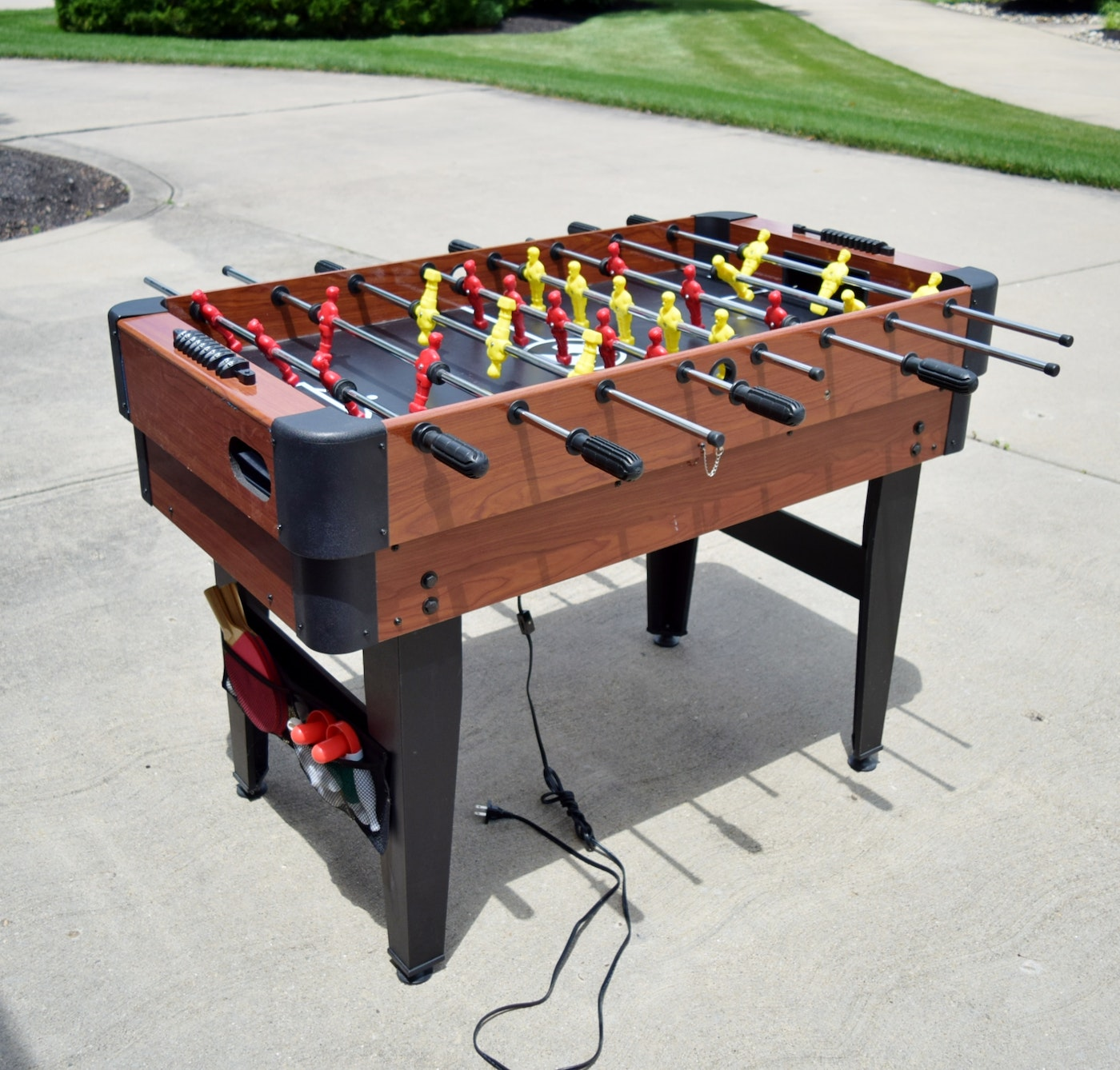 Sportcraft multi game table including foosball air hockey for 12 in 1 combination table