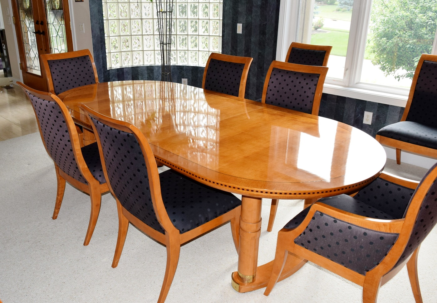 Hickory White Genesis Formal Dining Table With Eight