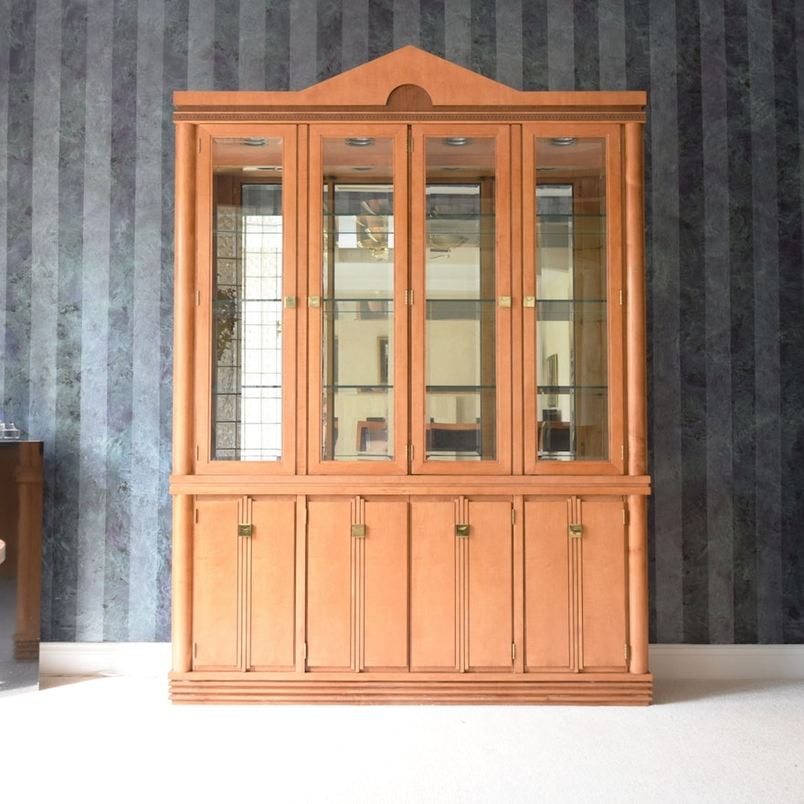 Hickory White Genesis Formal Dining Room China Cabinet