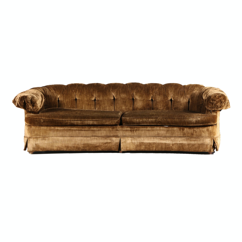 Vintage Plush Velour Sofa ...
