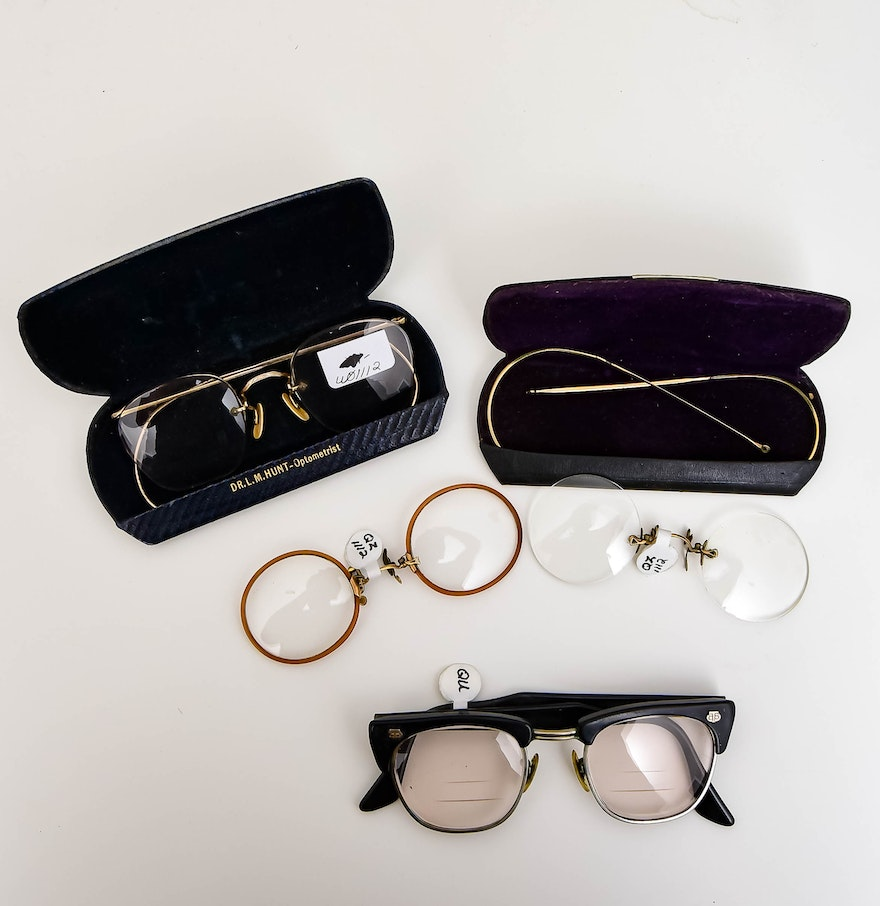 Eyeglass Frames On Consignment : Collection of Vintage Eyeglasses : EBTH