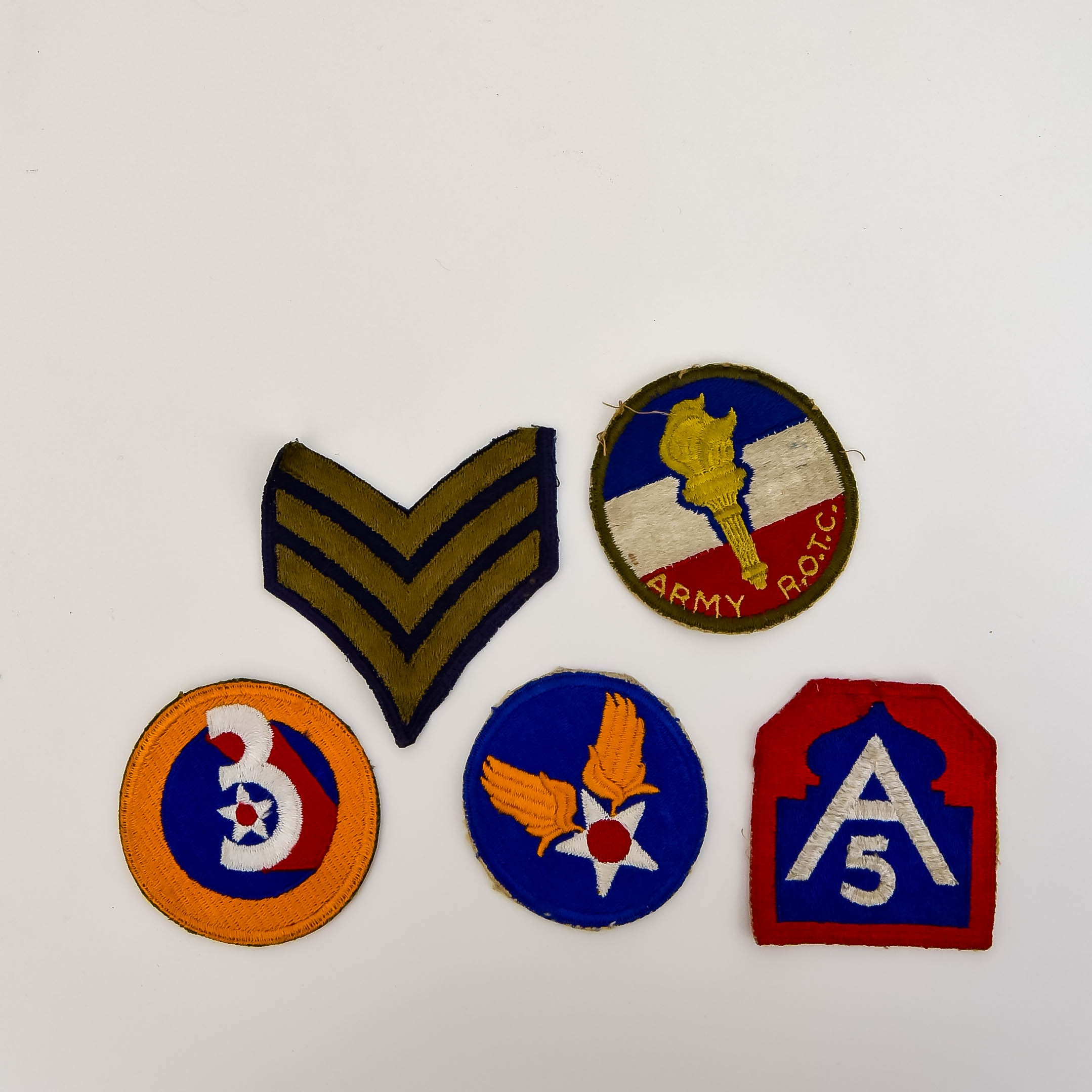 Collection of World War II Military Uniform Patches