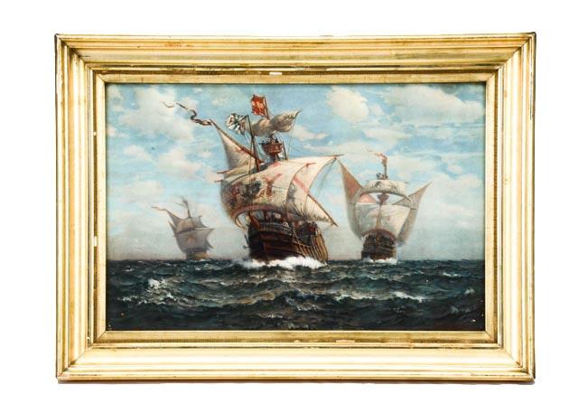 Antique James G. Tyler Maritime Chromolithograph