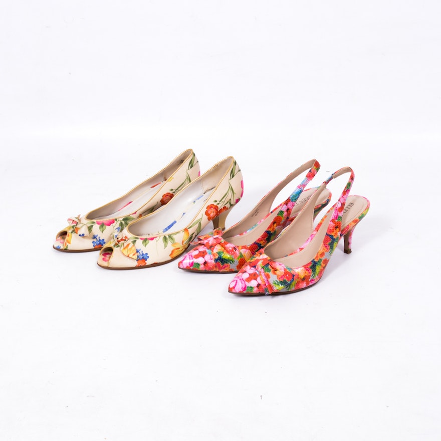 11a6e39ca33 Ellen Tracy and Impo Heels with Floral Prints   EBTH
