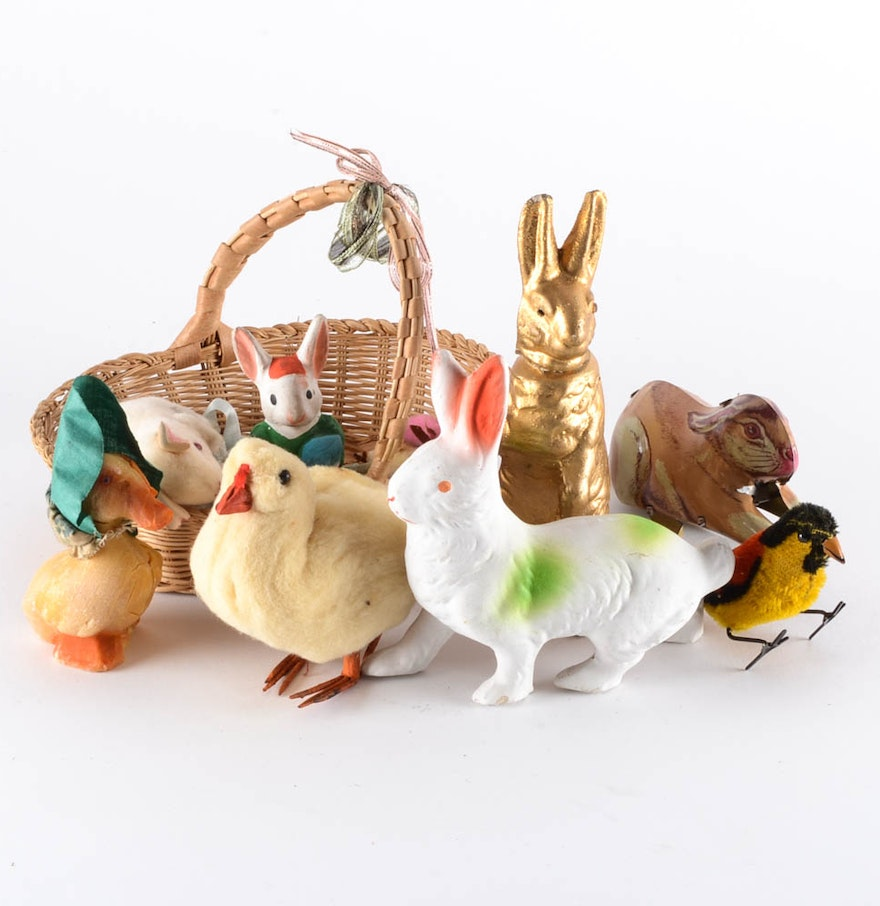 Toys Easter Magazine : Vintage grouping of easter toys ebth