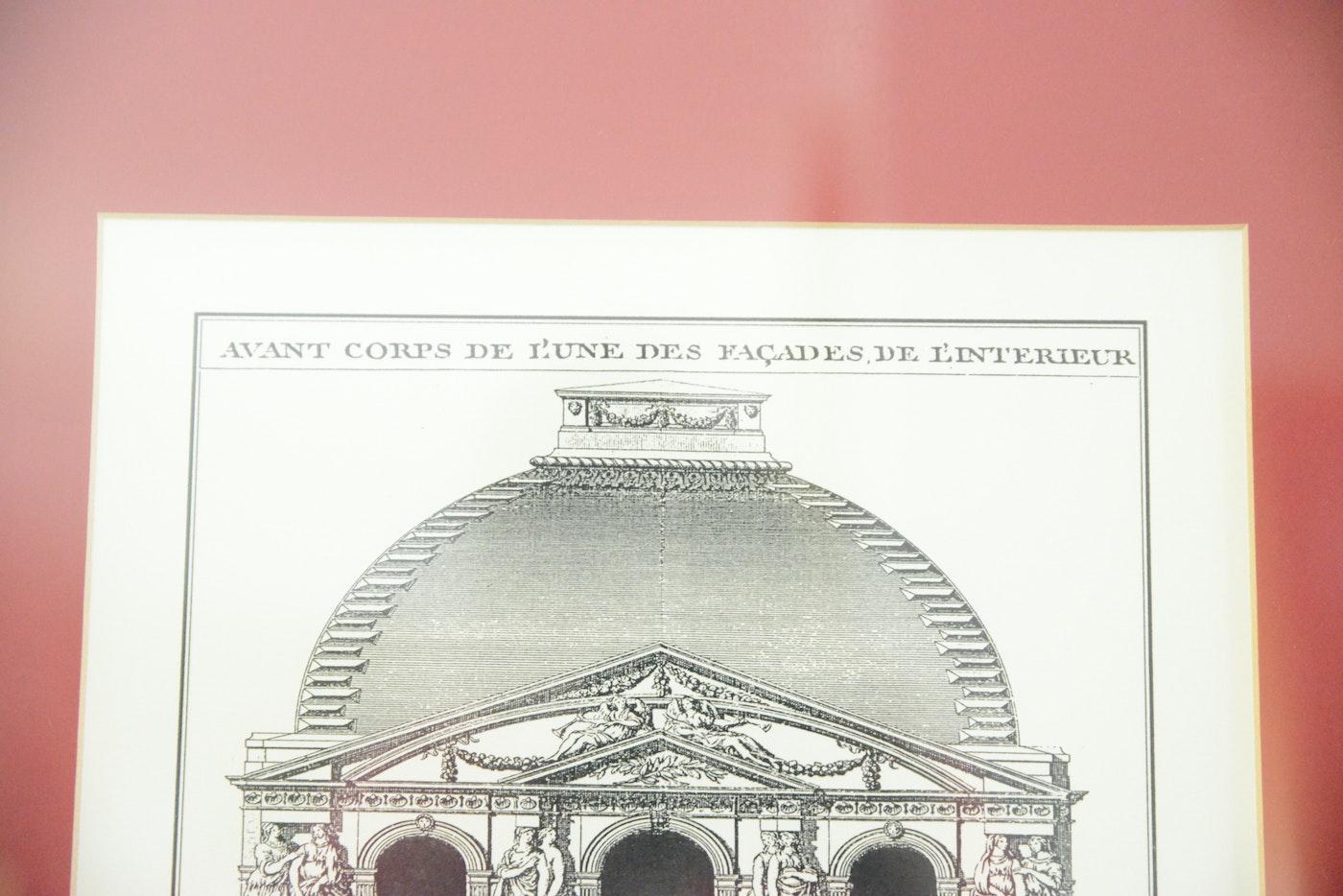 Framed reproduction engraving avant corps de l 39 une des for Corps interieur