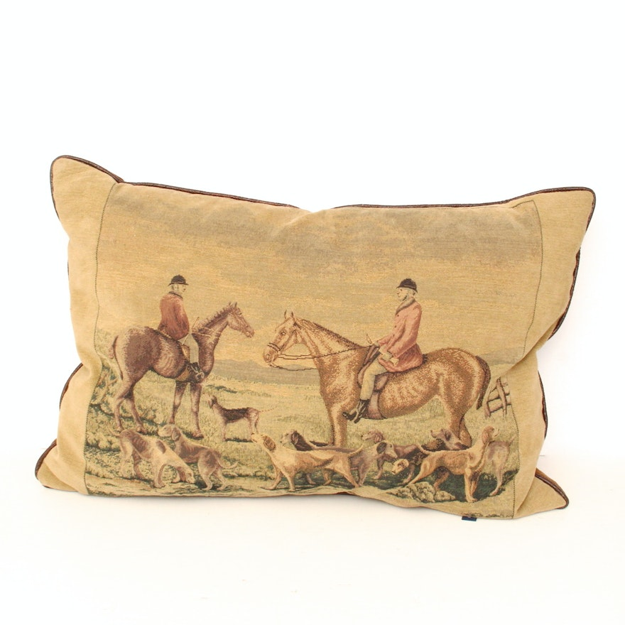 Ashford Court Hunt Pillow With Leather Welting EBTH Amazing Ashford Court Decorative Pillows