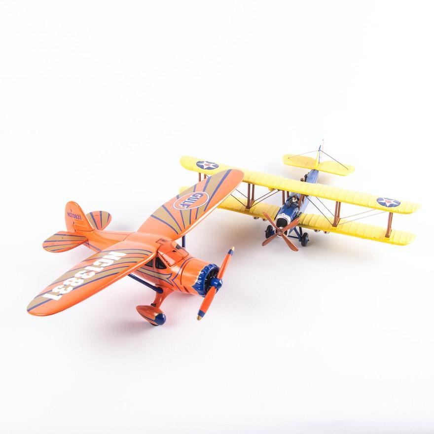 Pair of Gearbox Diecast Airplanes