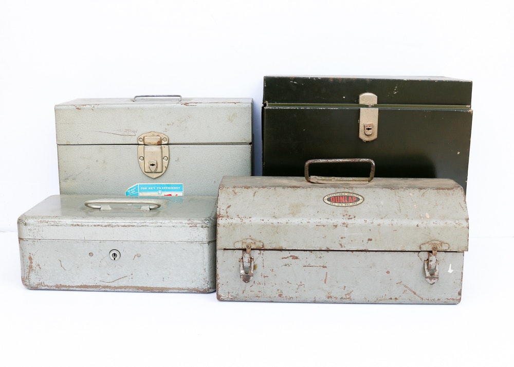 Group of Four Metal Boxes