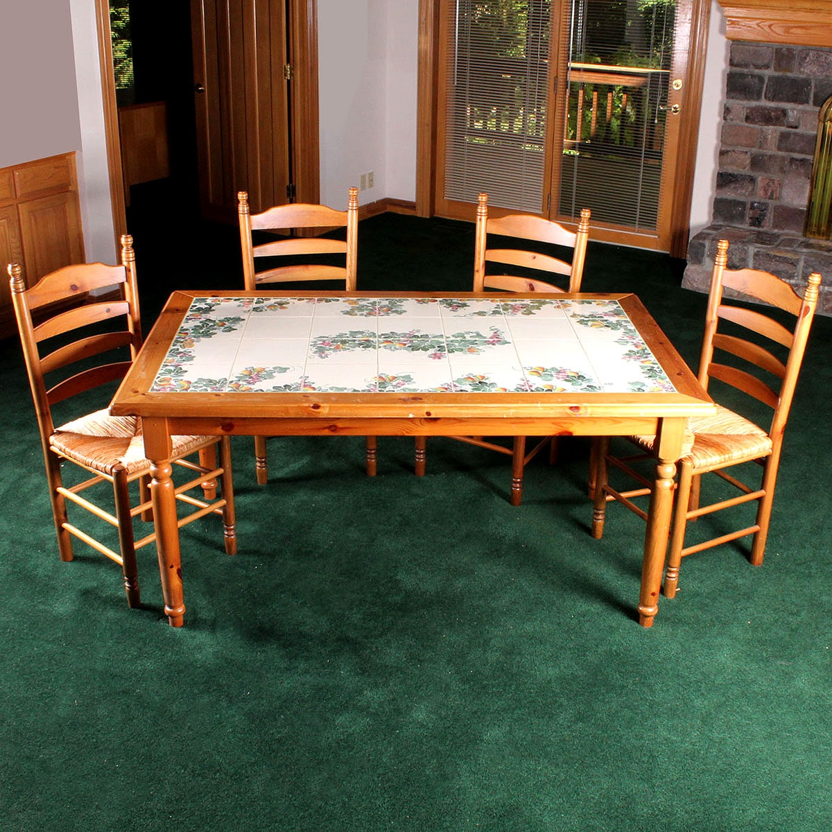 Nicola Fasano Grottaglie Tile Top Table And Chairs ...