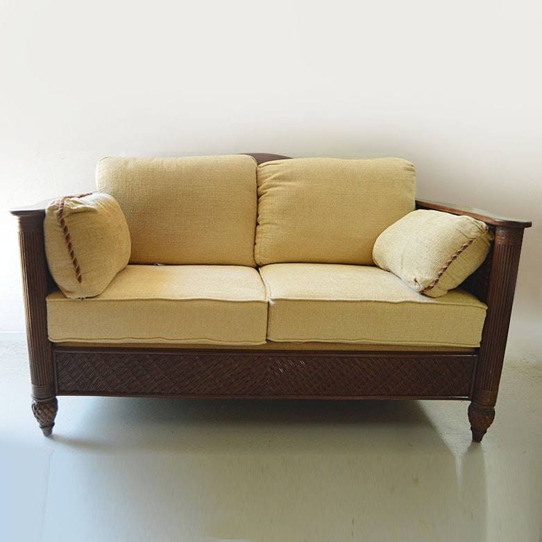 Antique louis xv style sofa with down cushion ebth Antique loveseat styles