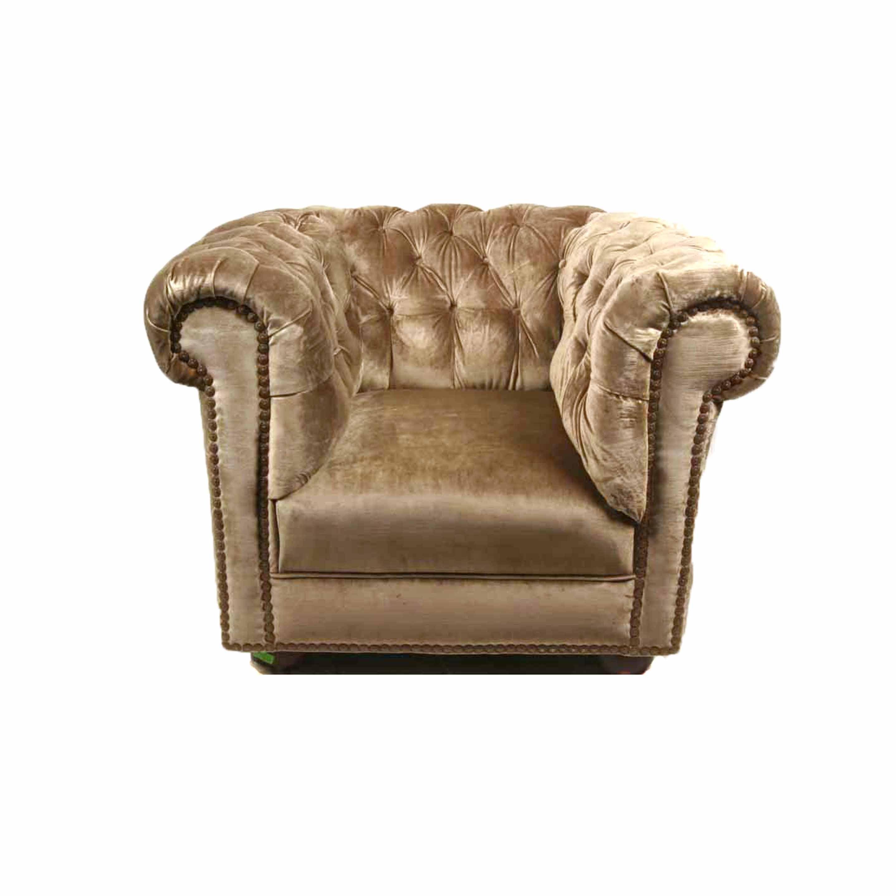 Tufted Velour Chair