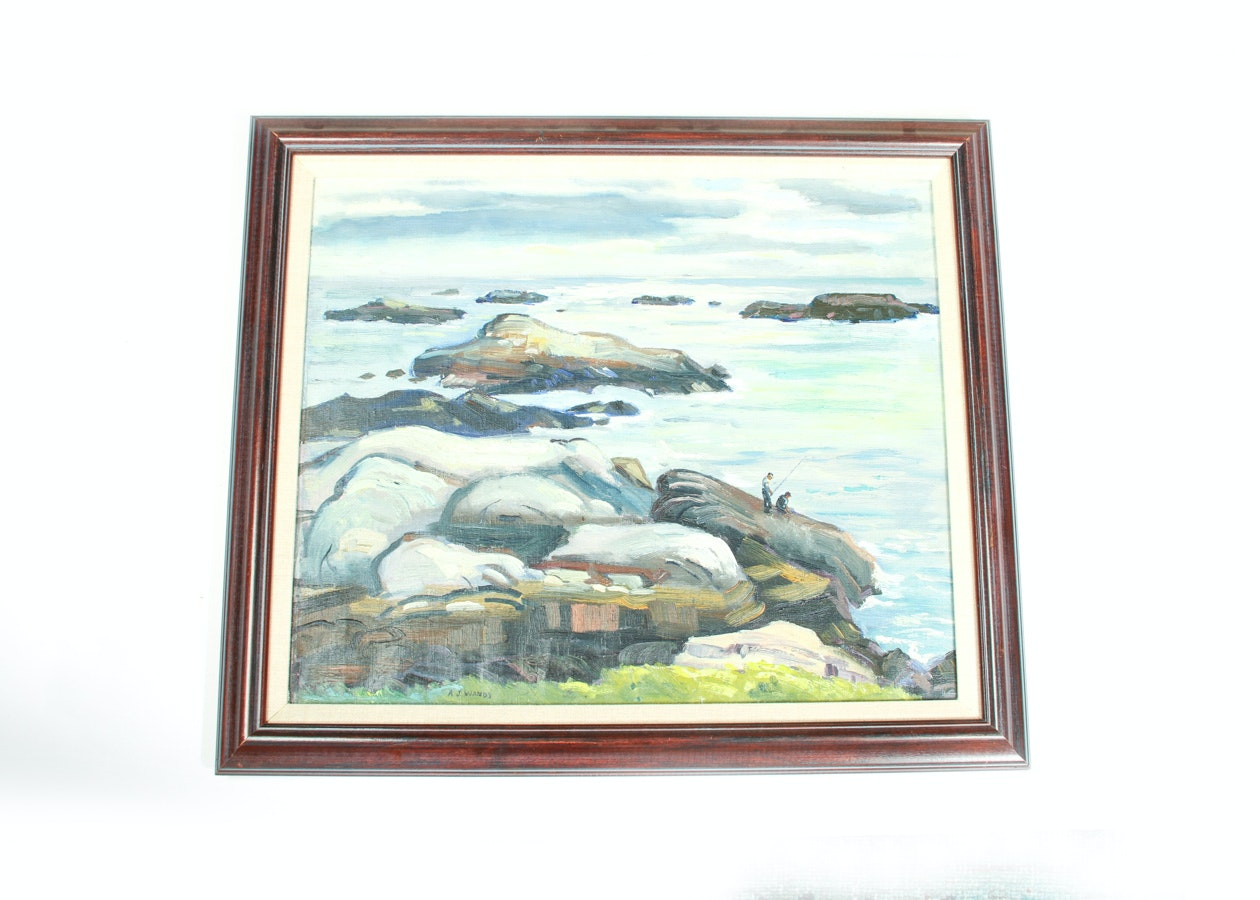 Alfred Wands Signed Oil Painting