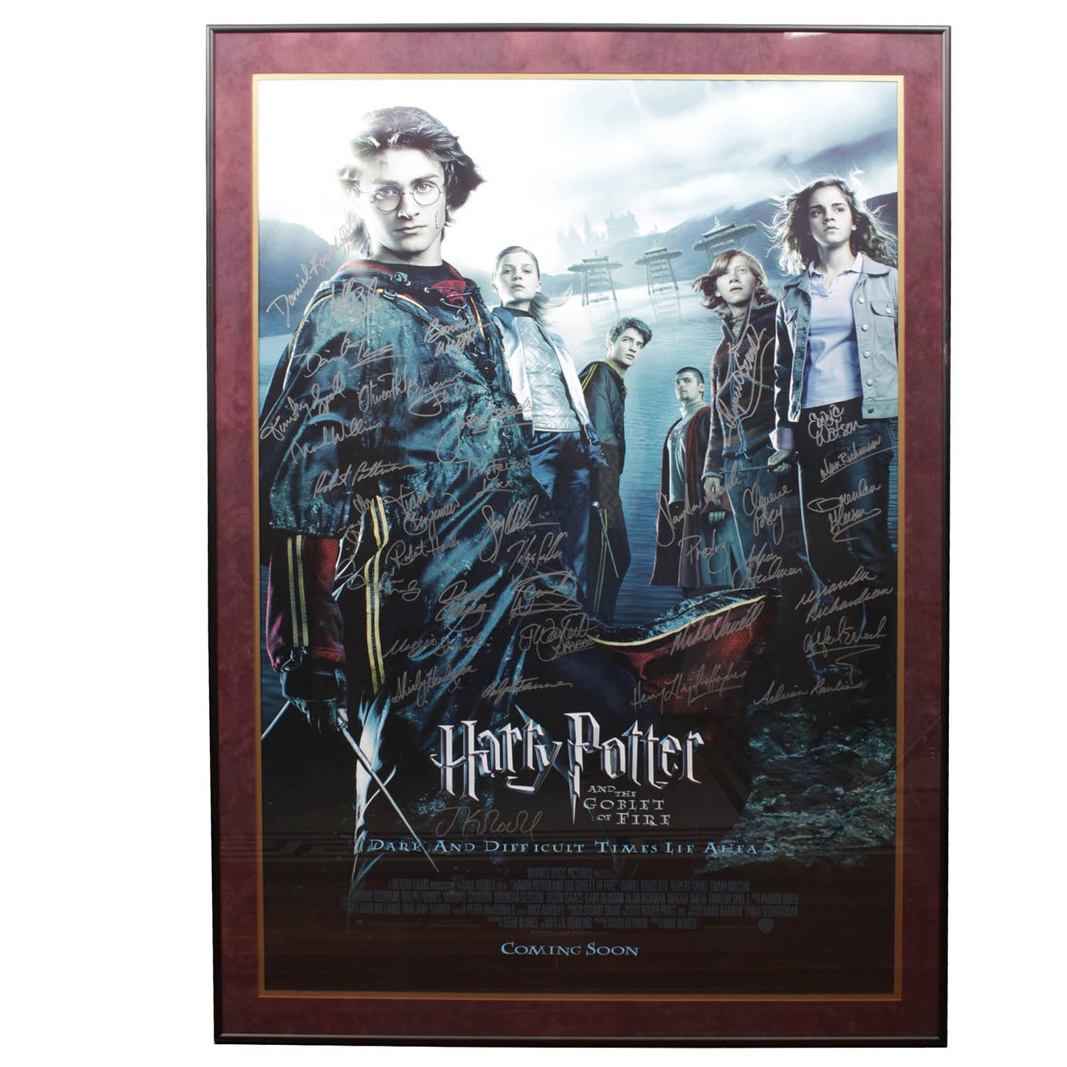 """Harry Potter """"The Goblet of Fire"""" SIgned with COA"""