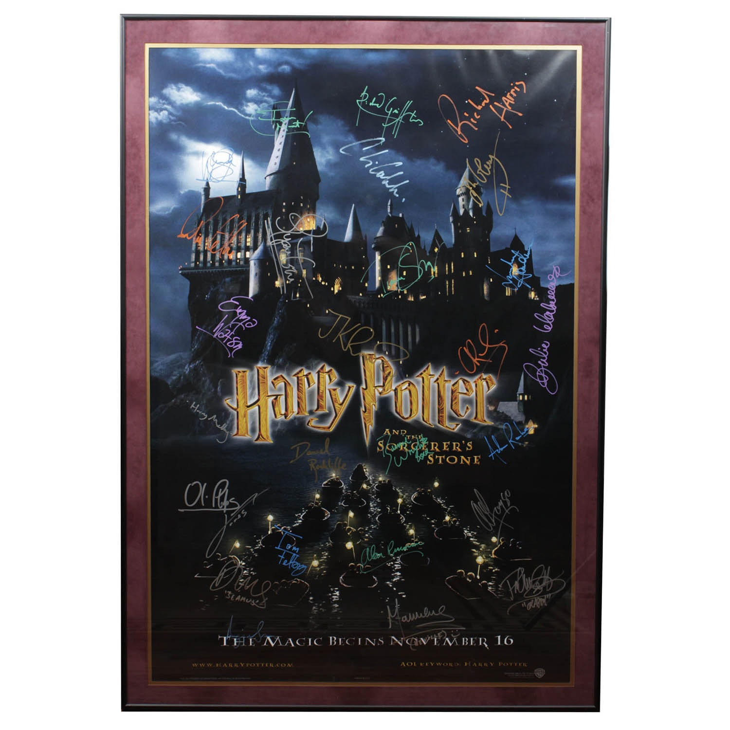 """Harry Potter """"The Sorcerer's Stone"""" Signed with COA"""