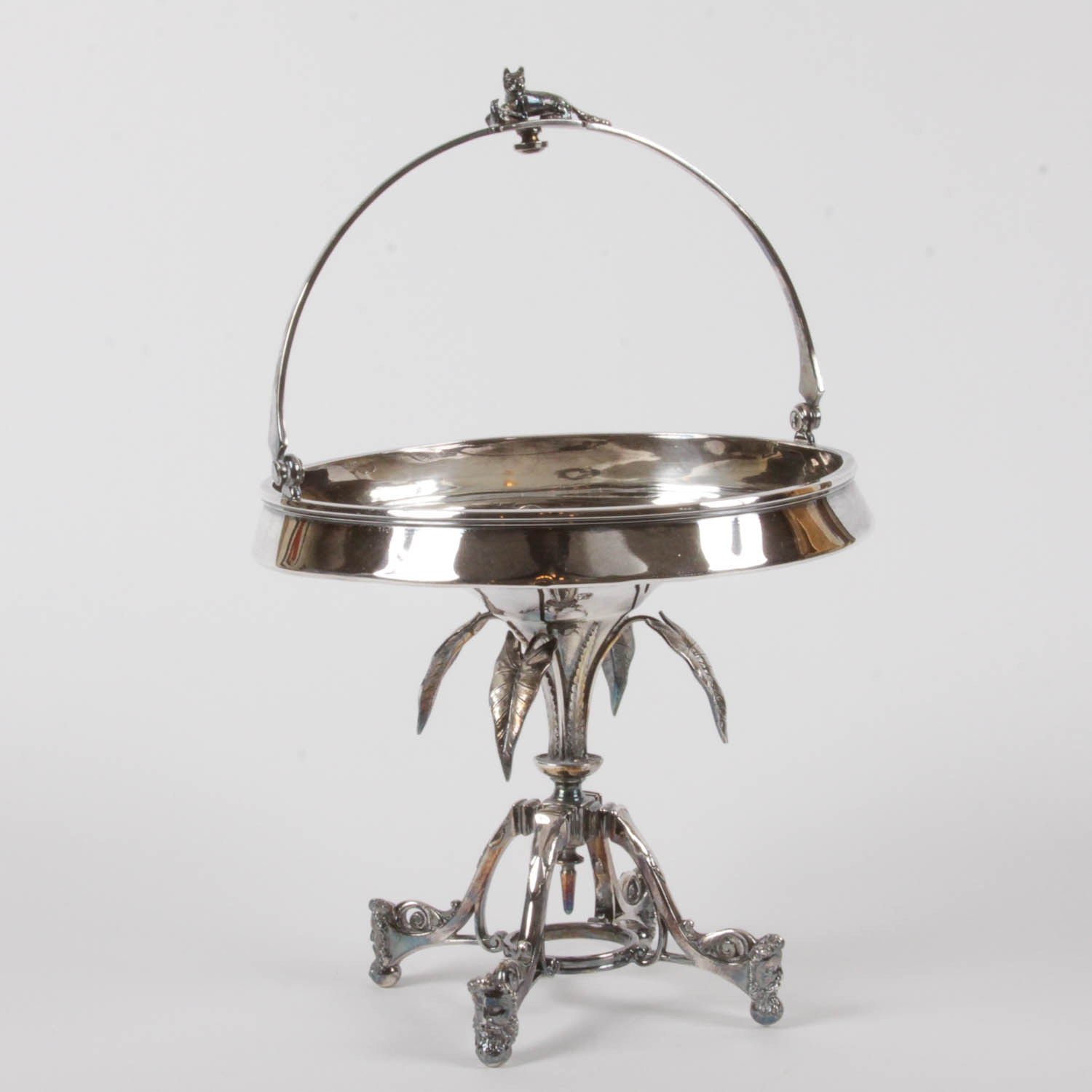 Silver Plated 'Wedding Basket' Fruit Stand