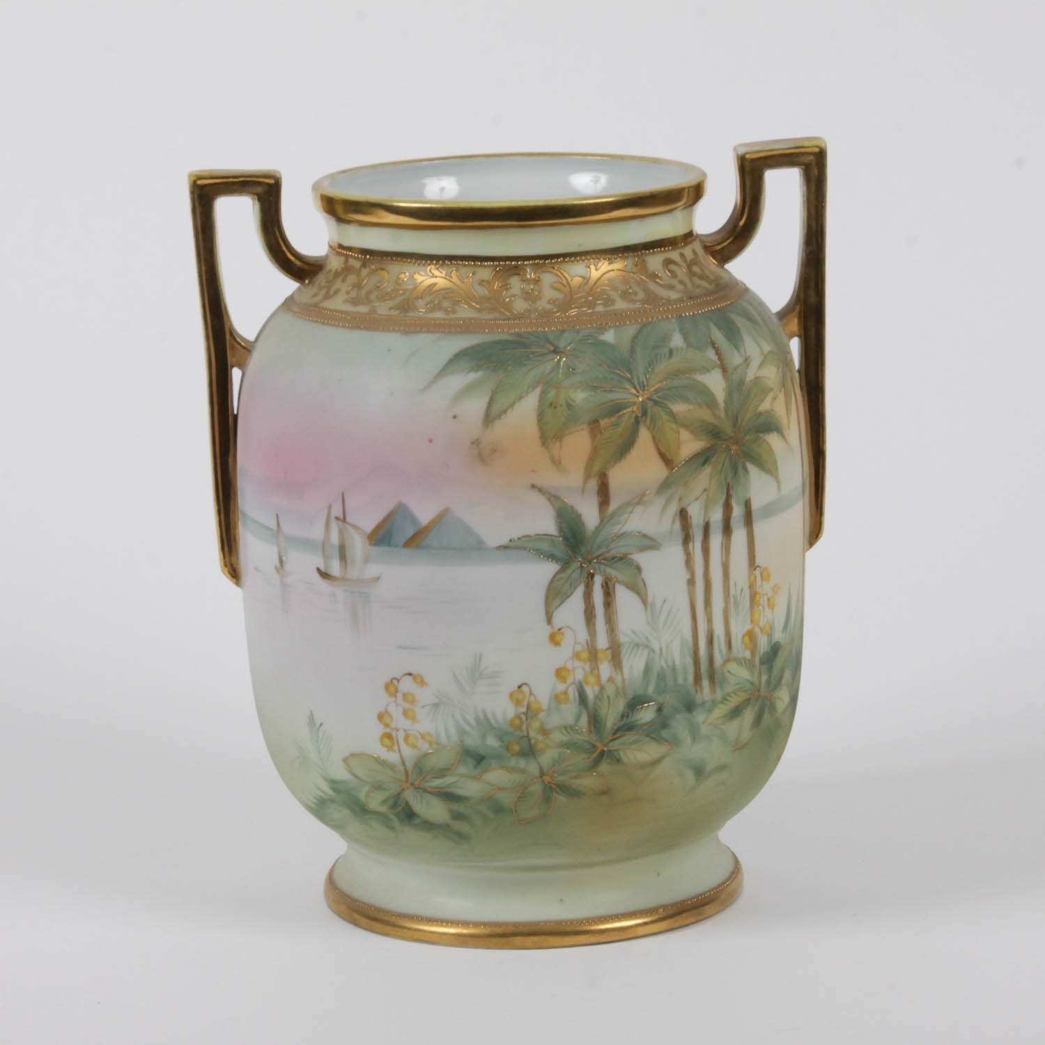 Nippon Vase with Egyptian Imagery