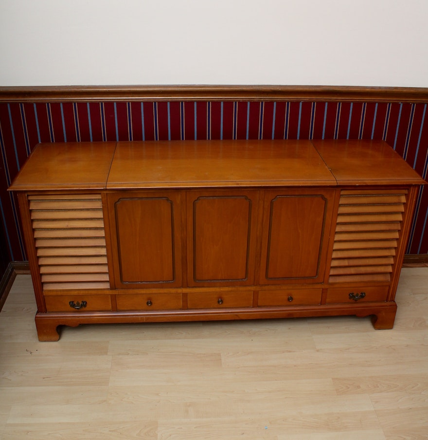 stereo n s designs refinished cabinet furniture mk vintage from by