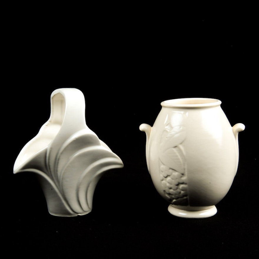 Imperial Pottery And Weller Vases Ebth