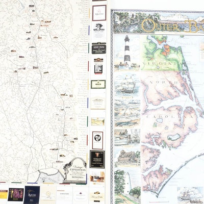 Vintage Art Prints Art Print Auctions Lithographs For Sale In - Decorative maps for sale