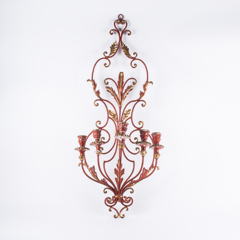 Large Candelabra Wall Sconce