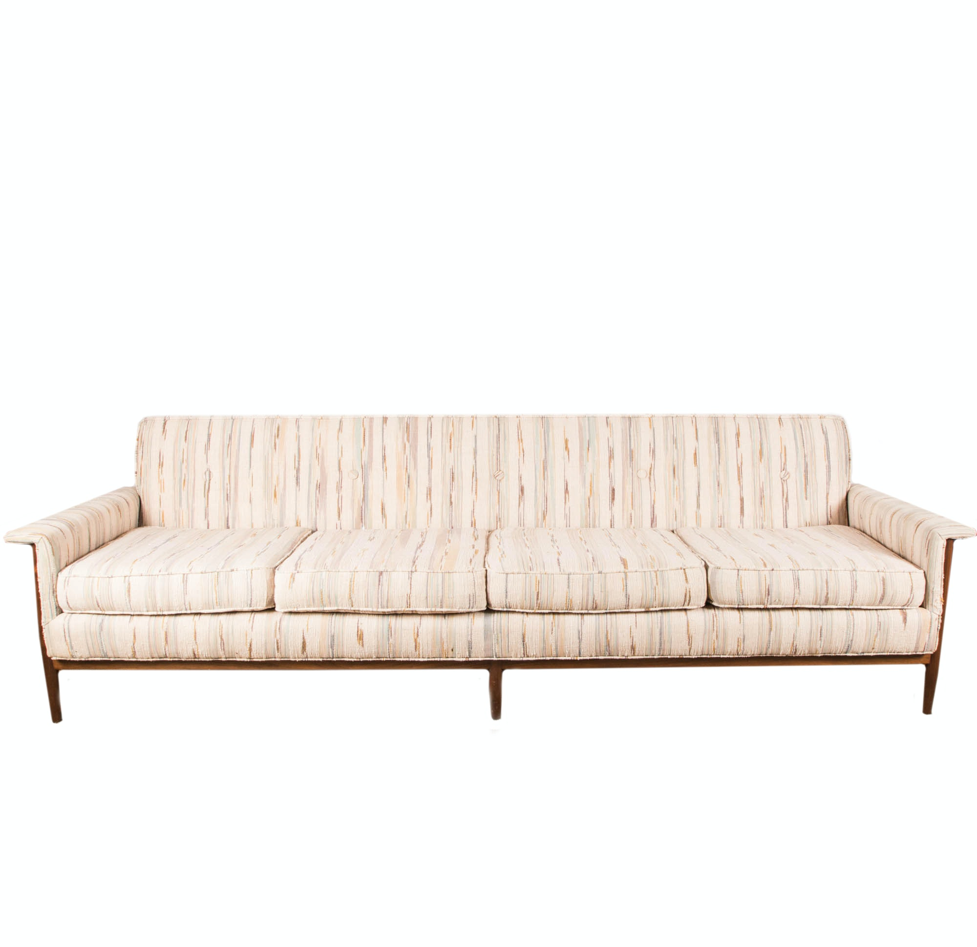 Walnut Mid Century Modern Sofa