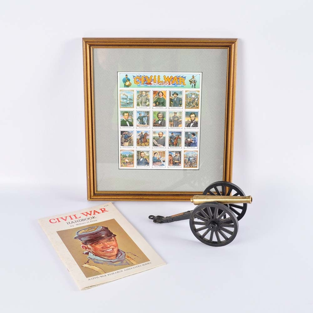 Civil War Items including Commemorative Stamps
