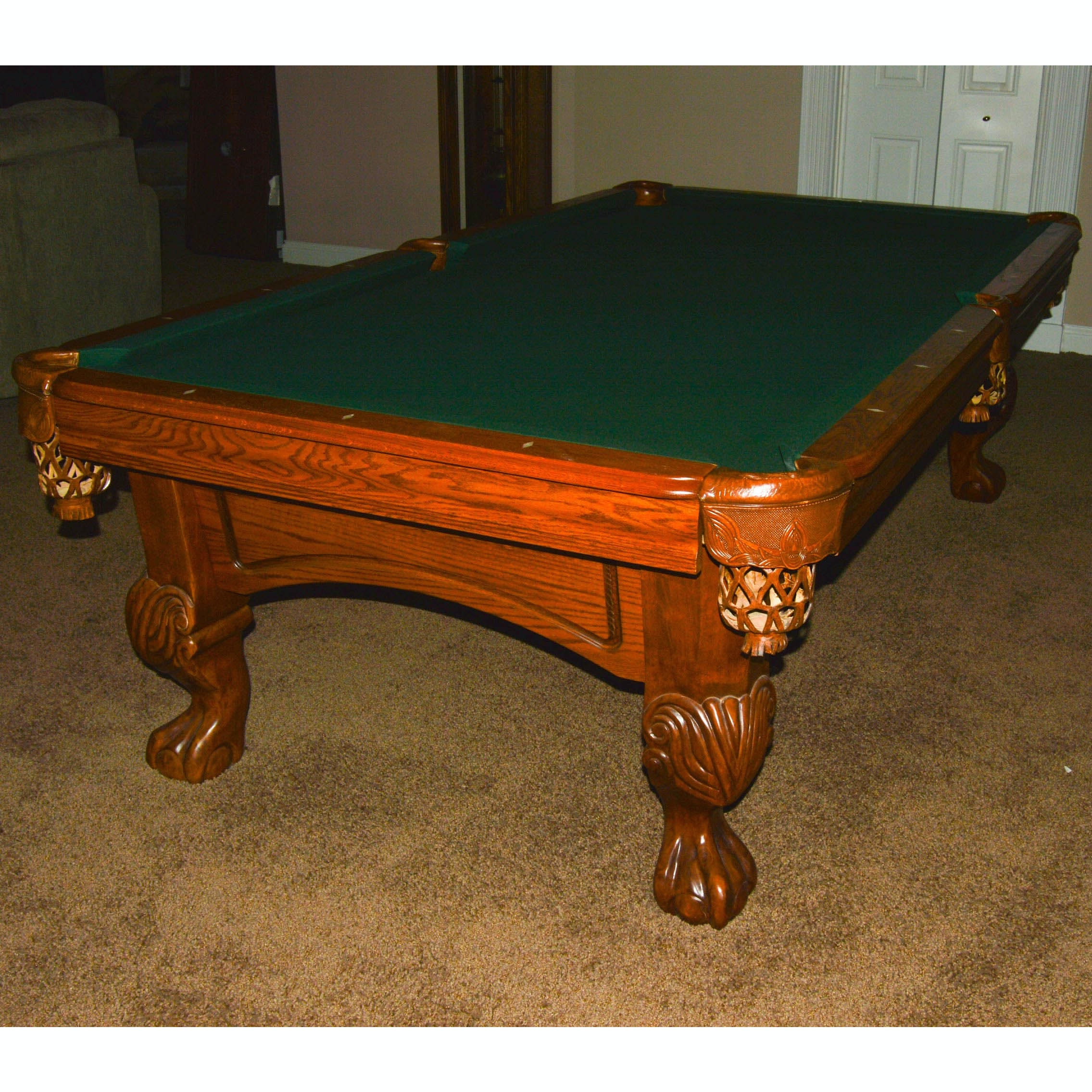 High Quality World Of Leisure Ornate Oak Pool Table ...
